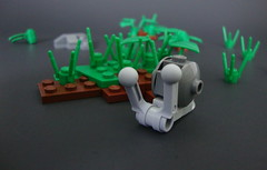 Snail (aBee150) Tags: grass grey lego mail shell snail 150 builders block aabbee aabbee150