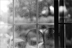 It's Raining (joeldinda) Tags: bw window wet rain reflections raw d300 joeldinda exploredisamystery