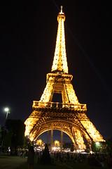 Eiffel Tower at night (Zoe-L) Tags: light sky paris france tower night eiffeltower eiffel