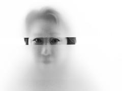 peek-a-boo (gks18) Tags: light portrait woman closeup canon blackwhite
