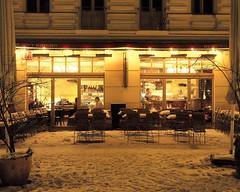 Des Winters schne Seiten (floressas.desesseintes) Tags: winter berlin caf restaurant prenzlauerberg gastronomie nachtaufnahme nachtleben annablume streetfotografie