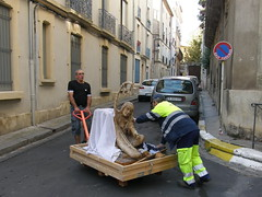 Trolley Dolly (Annie in Beziers) Tags: moving boobs trolley menatwork beauxarts moobs bézierslanguedocherault annieinbéziers