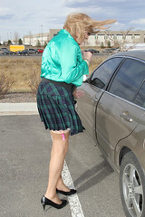 new89830-IMG_4055t (Misscherieamor) Tags: garter tv top feminine cd windy mini skirt tgirl transgender mature sissy tranny transvestite slip stocking plaid showing crossdress ts gurl tg travestis travesti travestie m2f xdresser tgurl