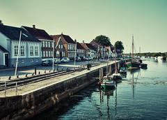 kleiner Hafen Ribe in Dänemark