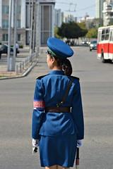 Pyongyang Traffic Girl (dabananabunch) Tags: girl nikon traffic north gimp police korea korean verkehr polizei vr afs dx pyongyang koreanisch dprk f3556g nordkorea  polizistin  18105mm   pjngjang verkehrspolizist d5200