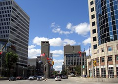 Heart of the City (knightbefore_99) Tags: winnipeg manitoba canada city portage main center downtown street prairies blue sky mb summer far cold windy