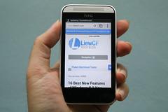 LiewCF.com loads in HTC Desire 200 browser