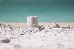 Sand Castle Ruins (kailey.smith) Tags: ocean blue sea white castle beach america sand florida teal southern serene annamaria soothing