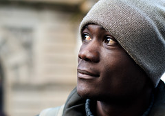 Dele (Charles Hamilton Photography) Tags: city portrait face 50mm eyes colours expression glasgow streetportrait buchananstreet citycentre characterstudy colourstreetportrait nikond7000 glasgowstreetphotography glasgowstreetportrait
