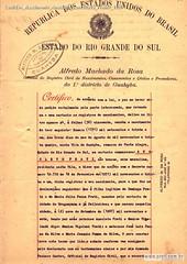 Certidão Nascimento Anacleto Cancelada Frente 1936