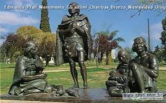Edmondo Prati Monumento Gli ultimi Charruas Bronzo Montevideo Uruguay 1938