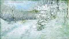 Giulio Cesare Prati Nevicata al mulino