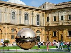 Sphere Within Sphere (Tiigra) Tags: 2007 italy rome vatican architecture circle funorinterest garden plant sculpture shape shooting vaticancity art
