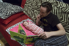 Rawr (evaxebra) Tags: pink reading book ryan luna read couch rawr zebra