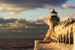 St. Joseph (Notkalvin) Tags: lighthouse cold ice harbor pier frozen michigan stjoseph lakemichigan freeze chilly icy numb benton frostbite mikekline michaelkline arcticfreeze puremichigan notkalvin notkalvinphotography