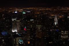New York Skyline at Night (Matthew Proffitt) Tags: city newyork skyline night 50mm us nikon cityscape manhattan empirestatebuilding empirestate hudson chryslerbuilding nikkor rockefeller metlife vignette nikond600