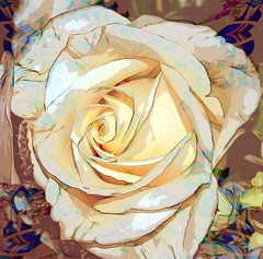 Winter Rose (etva101) Tags: flowers texture rose photomanipulation artdigital magicuniverse treatthis