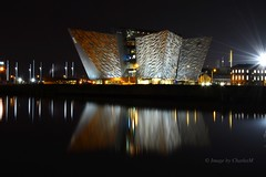 Titanic Reflections (CharlesM-2) Tags: ireland night reflections river nikon belfast northernireland titanic antrim charlesm d7100 shadowpm2