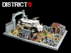 District 9 - Evacuation (Disco86) Tags: city car modern truck movie village lego district military united 9 shrimp aliens catfood national vehicle rotten apc ghetto multi slum prawn apv schrimp district9 apoca