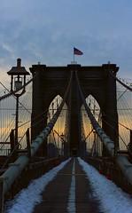 Brooklyn Bridge at dawn (pegase1972) Tags: us usa ny bridge brooklynbridge dawn newyork nyc unitedstates explore explored