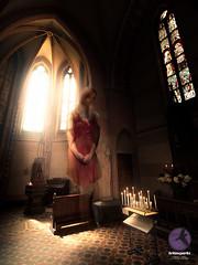 Just plain ethereal (briancparks) Tags: light red woman church window composite angel idea nikon freestyle dress spirit experiment floating levitation headshots spiritual notion d600 d90
