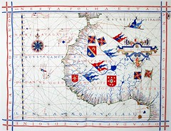 North West Africa (sjrankin) Tags: africa illustration map edited library flags historic wikipedia 1571 fernãovazdourado 6may2014