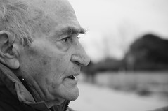 (atonoflove :3) Tags: old blackandwhite bw white black portait blurred grandpa granfather