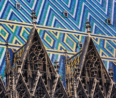 Mosaic (Jeremy Vickers Photography) Tags: vienna wien roof architecture design pattern cathedral mosaic famous gothic landmark stephansdom romanesque coloured tiled canonef85mmf18usm canoneos40d