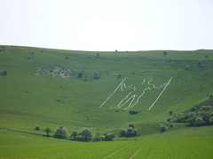 Sunbathing Man (adrianwoolgar) Tags: man nature countryside chalk view earth hill wilmington longman bywayride