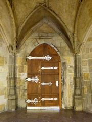 Castle Door (rochpaul5) Tags: door hinge leica wood castle stone silver lumix closed czech prague lock masonry royal prag arches panasonic metalwork limestone ornate silber