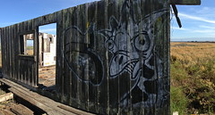 Girafa (always_exploring) Tags: california urban art abandoned graffiti bay town empty ghost explore bayarea spraypaint marsh eastbay graff exploration sinking wander girafa lurking baylands urbex longneck4life