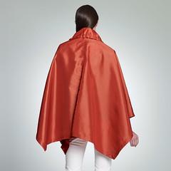100.34.37 Cape (betrenchcoated) Tags: red beautiful cape raincoat nylon regenjacke
