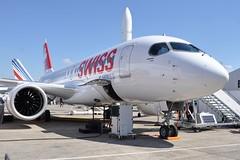 C-GWXZ  CS100  LBG SIAE 2015 (airlines470) Tags: airport swiss msn lbg aerospace bombardier 2015 cs100 50005 siae cgwxz