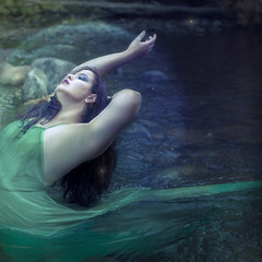 'Current' (Natasha Root Photography) Tags: natasharootphotography inspire imagine create current flow bend painterly likeapainting green greens cyan water life energy light brunette backbend dress squareformat square