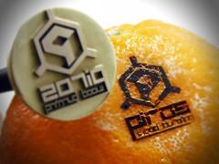 Sello para marcar naranjas - naranja pirograbada
