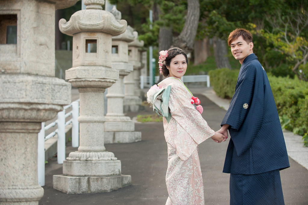 日本北海道婚紗,函館婚紗,和服婚紗,神社婚紗,八幡宮婚紗,石燈籠婚紗,海外婚紗