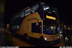 15990 (northwest85) Tags: stagecoach worthing coastliner 700 yn64 xsu 15990 scania alexander dennis adl enviro 400 special service portsmouth bus depot yn64xsu