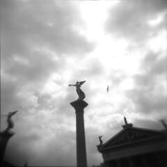 Ancient Rome in Cinecitt (Nicola Donato) Tags: analogicait analogphotography blackwhite holga 120n ilford hp5 ilfosol3 120mm vignetting plasticlens plasticcamera lomography negative toycamera roma rome ancientrome cinecitt