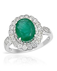 14K White Gold 0.48 CTW Color I-K SI1 Diamond and 1.95 CTW Emerald Women Ring. Ring Size 7. Total Item weight 3.4 g. (goodies2get2) Tags: 500to1000 amazoncom bestsellers diamond gold