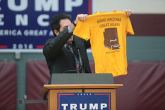 Tyler Bowyer (Gage Skidmore) Tags: donald trump jr campaign rally father son sun devil fitness center arizona state university tempe tyler bowyer