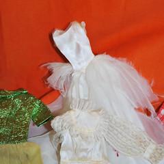 Hot Mess Wedding Dress (toomanypictures1) Tags: vintagebarbie fashions rick rack rah lets dance ooak clothes