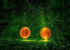 Fire Spinning Pumpkins (Daveyal_photostream) Tags: firespinning digitalart d600 nikon nikor green meandmygear mygearandme mycamerabag motion movement beautiful beauty sparks fire pumpkins outdoor serene