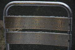 Wet Chair (Peter Bennett2010) Tags: chair cafe rain wet aluminium