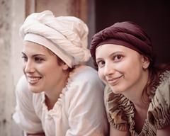 (maxlaurenzi) Tags: girls smile beautiful renaissance costumes reenactment italy monzambano garda lake summer portrait 105mm