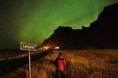 Aurora [Instagram] (Cagsawa) Tags: aurora borealis auroraborealis northernlights light lightshow iceland vik southerniceland mountain field nightscene lambafell rx100 starry starrynight lowlight longexposure