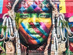 Mural. Rio De Janeiro. (ravalli1) Tags: rio brazil city riodejaneiro murals port eduardokobra pracamaua olympics streetart etnias indigenous