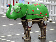 SnookHerd by Kieron Rielly and Lynsey Brecknell, Herd of Sheffield Farewell Weekend 2016 (Dave_Johnson) Tags: snookherd kieronrielly lynseybrecknell snooker herdsheffield herd elephant elephants art streetart sculpture sheffchildrens sheffieldchildrenshospitalcharity sheffieldhospital childrenscharity childrenshospital sheffield southyorkshire meadowhall carpark shoppingcentre
