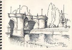 El Puente de Toledo desde la margen derecha del Ro Manzanares (f.gmezcorisco) Tags: cuaderno rotulador airelibre madrid sketch puente