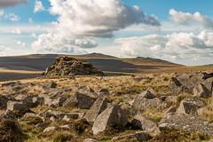 Higher Tor, Dartmoor National Park (Keith in Exeter) Tags: dartmoor nationalpark landscape hill tor outdoor devon england rocks highertor highwillhays yestor westmilltor moorland grass sky cloud belstone