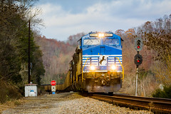 Blue Bonnet at Starnes (Peyton Gupton) Tags: ns norfolk southern clinchfield railroad starnes